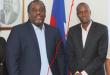 Scoop Naval Info : Jovenel Moise et Youri Chevry, présents aux festivités pré carnavalesques ce dimanche au Champ de Mars, affichent un rapport amer sur le stand de la Mairie de Port-au-Prince